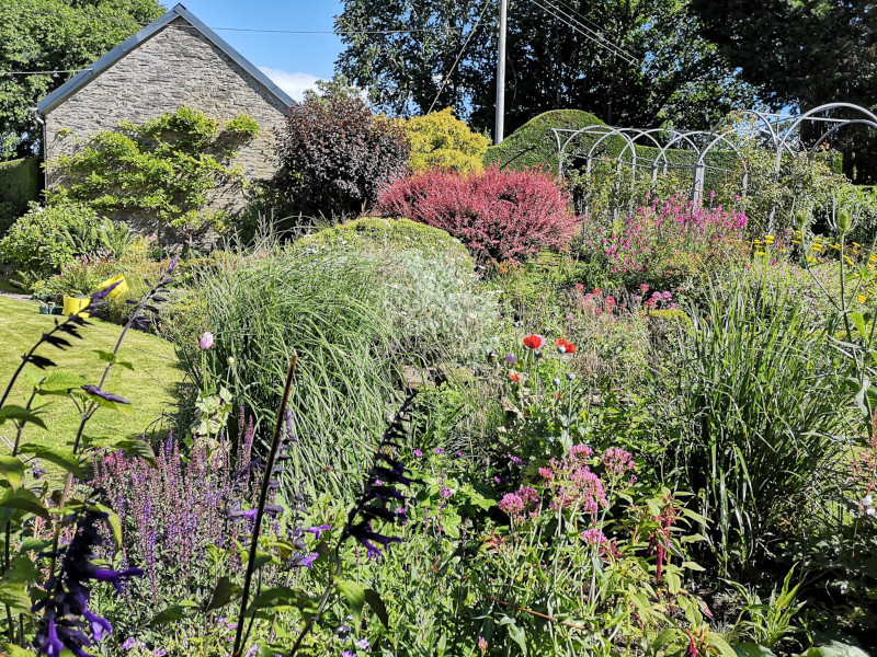 Lower Garden at The Old Vicarage Llandysul